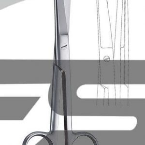 Ciseaux médicaux émoussés 145mm