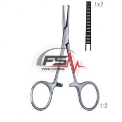 TERIER 85mm KOCHER TEETH 1×2 Hemostatic Forceps
